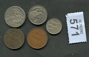 SET OF  5 COINS OF   NEW ZEALAND