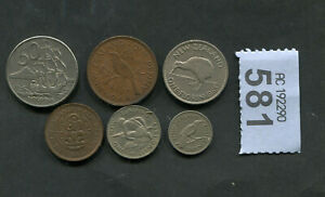 SET OF 6 COINS OF NEW ZEALAND