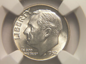1952 ROOSEVELT DIME MS 64 NGC
