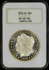 Click now to see the BUY IT NOW Price! 1878 CC MORGAN $1 NGC MS65DPL TOP 100 VAM 11   OLD