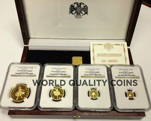 Click now to see the BUY IT NOW Price! RUSSIA 1993 SET 4 GOLD COINS BALLET WOODEN BOX COA NGC PF69
