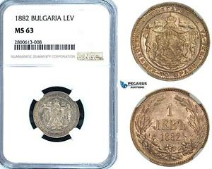 Click now to see the BUY IT NOW Price! ZB25 BULGARIA ALEXANDER I 1 LEV 1882 ST. PETERSBURG SILVER NGC MS63