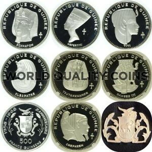 Click now to see the BUY IT NOW Price! GUINEA 1970 SET 7 SILVER COINS 500 FRANCS ANCIENT EGYPTIAN PHARAONS NGC PF65 68