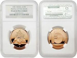 Click now to see the BUY IT NOW Price! ISRAEL 1981 PEOPLE OF THE BOOK 10 SHEQALIM GOLD NGC PF68 ULTRA CAMEO