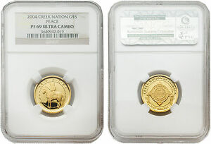 Click now to see the BUY IT NOW Price! CREEK NATION 2004 $5 PEACE 1/5 OZ GOLD COIN NGC PF 69 ULTRA CAMEO