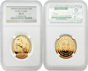 Click now to see the BUY IT NOW Price! SINGAPORE 1990 YEAR OF HORSE 1/2 OZ GOLD NGC MS67