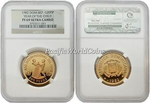 Click now to see the BUY IT NOW Price! DOMINICANA 1982 YEAR OF CHILD 200 PESOS GOLD NGC PF 69 ULTRA CAMEO