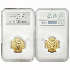 Click now to see the BUY IT NOW Price! UKRAINE 2015 ARCHANGEL MICHAEL 1/2 OZ 10 HRYVEN GOLD NGC MS69