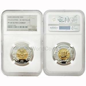 Click now to see the BUY IT NOW Price! UKRAINE 2000 PALEOLITHIC BIMETALLIC 20 HRYVEN GOLD & SILVER NGC PF68 ULTRA CAMEO