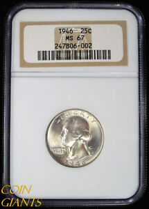 Click now to see the BUY IT NOW Price! 1946 WASHINGTON QUARTER DOLLAR NGC MS 67 GEM BU UNCIRCULATED 25C HIGH GRADE