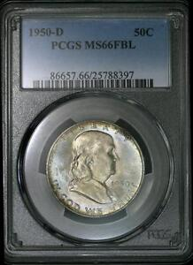 Click now to see the BUY IT NOW Price! 1950 D FRANKLIN HALF DOLLAR PCGS MS 66 FBL   50C