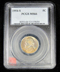 Click now to see the BUY IT NOW Price! 1954 S DDR FS 801 JEFFERSON NICKEL PCGS MS 66 KEY DATE TONED  5C DOUBLED STEPS