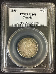Click now to see the BUY IT NOW Price! 1930 TWENTY FIVE CENTS   PCGS MS65. FULL STRIKE WITH AWESOME TONING