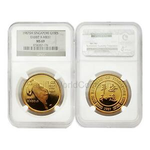 Click now to see the BUY IT NOW Price! SINGAPORE 1987 YEAR OF RABBIT X MB31 100S GOLD NGC MS69