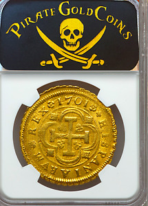 Click now to see the BUY IT NOW Price! SPAIN 1701 8 ESCUDOS NGC 62 ONLY 2 ALL GRADES GOLD DOUBLOON SEVILLE MINT COIN