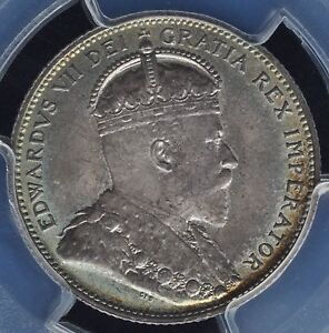 Click now to see the BUY IT NOW Price! CANADA   1909 TWENTY FIVE CENTS   PCGS MS65 CHOICE CONDITION