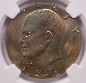 Click now to see the BUY IT NOW Price! NGC $1 1974 D IKE DOLLAR STRUCK ON PHILIPPINE 1 PESO PLANCHET MS 66
