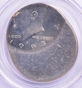 Click now to see the BUY IT NOW Price! PCGS 50C 1993 D KENNEDY HALF STRUCK 60  OFF CENTER MS 64