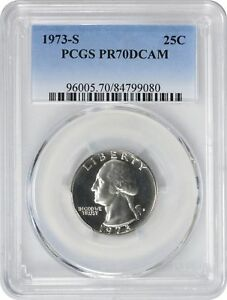 Click now to see the BUY IT NOW Price! 1973 S WASHINGTON QUARTER PR70DCAM PCGS PROOF 70 DEEP CAMEO
