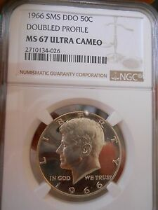 Click now to see the BUY IT NOW Price! 1966 KENNEDY HALF DOUBLE PROFILE NGC MS67 ULTRA CAMEO  TOP POP 1/0 WHITE