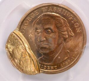 Click now to see the BUY IT NOW Price! PCGS $1  2007  WASHINGTON DOLLAR MULTI STRUCK 80  OFF CENTER MS 64