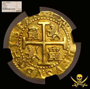 Click now to see the BUY IT NOW Price! PERU 1703 8 ESCUDOS NGC 55  ONLY 2 KN 1715 FLEET GOLD DOUBLOON TREASURE COIN