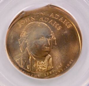 Click now to see the BUY IT NOW Price! PCGS 2007 JOHN ADAMS DOLLAR DOUBLE STRUCK 20  OFF CENTER & 5  CLIP MS 66