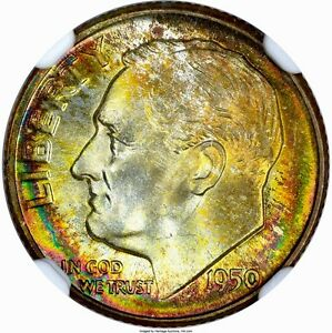Click now to see the BUY IT NOW Price! 1950 D ROOSEVELT DIME 10C NGC MS68 FULL TORCH POP  5/0  PG   $4 600