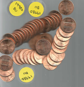 1998 D LINCOLN CENT PENNY ROLL CHOICE TO GEM BRILLIANT UNCIRCULATED BU 50 PCS