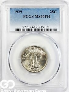 Click now to see the BUY IT NOW Price! 1929 STANDING LIBERTY QUARTER FULL HEAD PCGS MS 66 FH    NICE