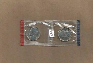 1986 P&D JEFFERSON NICKELS / IN CELLO PACKETS NEVER HANDLED WITH OILY FINGERS