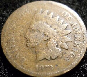 1873 OPEN 3 INDIAN HEAD PENNY CENT   AG / G   U.S. COIN LOT   IHP IHC 1C