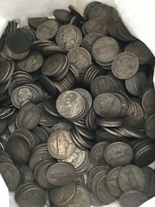 LOT OF 500 35  SILVER WAR NICKELS 1942 1945 CIRCULATED