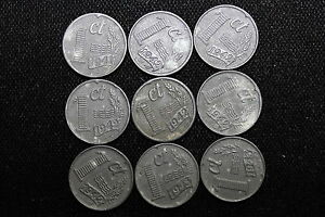 Click now to see the BUY IT NOW Price! 1941 1942 1943 NETHERLANDS. 1 5 10 25 CENTS  15 COINS . ZINC. NICE COND.