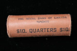 Click now to see the BUY IT NOW Price! 1965 CANADA. 25 CENTS. SILVER. ORIGINAL BANK ROLL ROYAL BANK. UNOPENED.  2