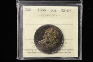 Click now to see the BUY IT NOW Price! 1966 CANADA. 50 CENTS. ICCS GRADED MS 65  XYG871