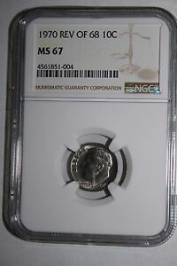 Click now to see the BUY IT NOW Price! 1970 REVERSE OF 68 ROOSEVELT DIME NGC MS 67  TOP POP