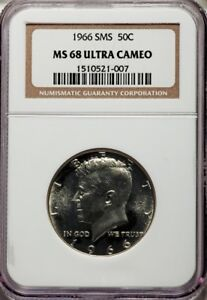 Click now to see the BUY IT NOW Price! 1966 KENNDY SMS HALF DOLLAR 50C NGC MS68 UCAM ULTRA DEEP CAMEO PG   $19 500
