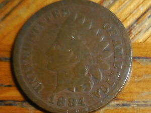 1884 INDIAN HEAD CENT  SELLER'S  125 BUY MORE COINS PAY NO MORE SHIPPING FEES