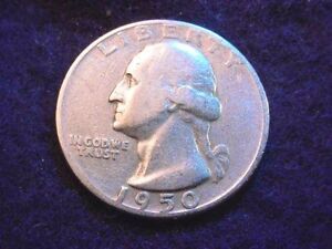 1950 D/S WASHINGTON QUARTER GREAT ERROR COIN    833
