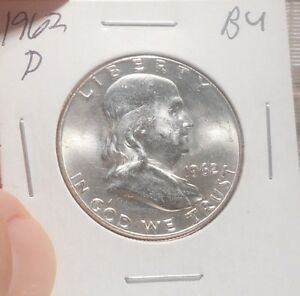 1962 D FRANKLIN HALF BU     PRICED TO SELL   ..  LOT 135