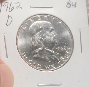 1962 D FRANKLIN HALF BU     ..PRICED TO SELL   ..  LOT 139