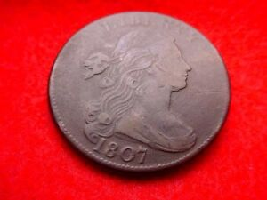 1807 DRAPED BUST LARGE CENT EXTRAORDINARY COIN  TOP NOTCH     20