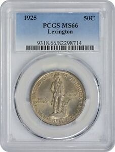 Click now to see the BUY IT NOW Price! 1925 LEXINGTON COMMEMORATIVE HALF MS66 PCGS