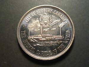 Click now to see the BUY IT NOW Price! 1964 SUDBURY CANADA CENTENNIAL NUMISMATIC PARK MEDAL   SILVER ISSUE  344