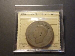 Click now to see the BUY IT NOW Price! LOWBALL   1939 CANADA SILVER DOLLAR POCKET PIECE LUCKY COIN ICCS POOR P 01