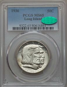 Click now to see the BUY IT NOW Price! 1936 LONG ISLAND TERCENTENARY HALF DOLLAR PCGS MS 65 CAC