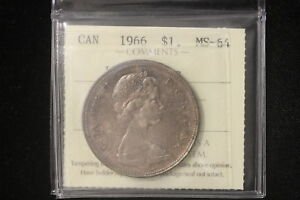 Click now to see the BUY IT NOW Price! 1966 CANADA. 1$ DOLLAR. VOYAGEUR. ICCS GRADED MS 64.  XYG860