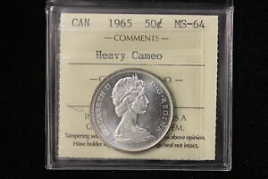 Click now to see the BUY IT NOW Price! 1965 CANADA. 50 CENTS. ICCS GRADED MS 64 HEAVY CAMEO .  XSE190