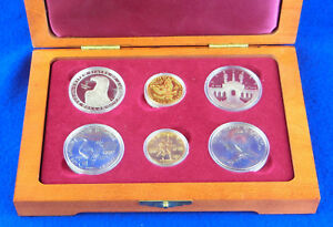 Click now to see the BUY IT NOW Price! 1983 & 1984 US OLYMPICS   SIX  6  COIN US MINT COMMEMORATIVE SET